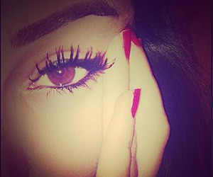 eyes, nails, and pretty image
