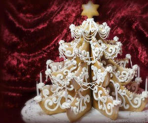beautiful, christmas tree, and gingerbread image