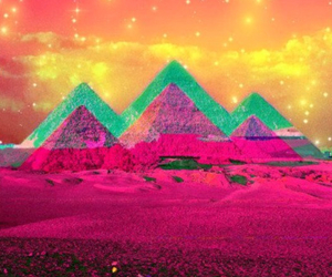 pyramid, egypt, and colorful image