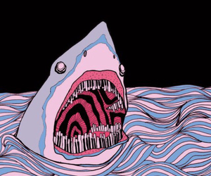 shark, art, and piano image