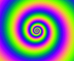 psychedelic, rainbow, and swirl image