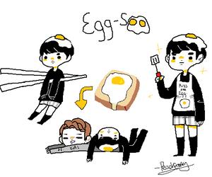 egg, exo, and kai image
