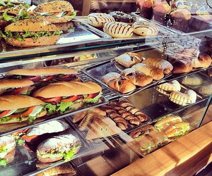 food, sandwich, and bakery image