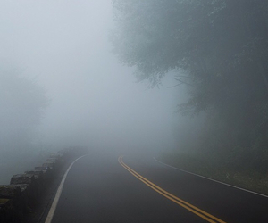 fog, road, and جميل image