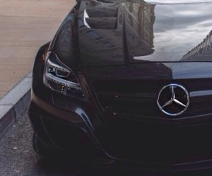black, car, and mercedes image