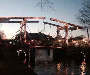 amsterdam, holland, and lights image