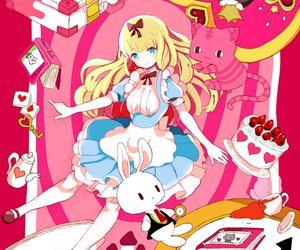 alice in wonderland, anime, and cute image