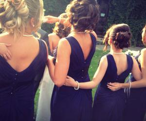 bridesmaids, dresses, and edited image