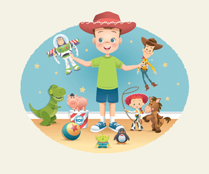 toy story, disney, and andy image