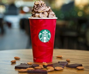 chocolate, christmas, and starbucks image