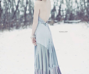 dress, snow, and winter image