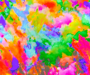 bright, colorful, and messy image