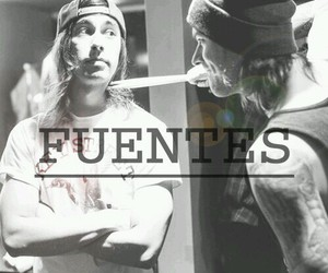 vic fuentes, pierce the veil, and mike fuentes image