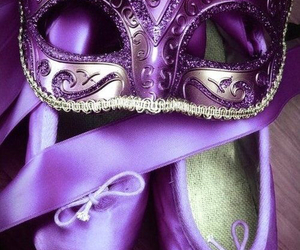 purple and mask image
