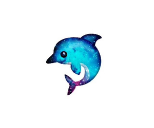 dolphin, galaxy, and overlay image