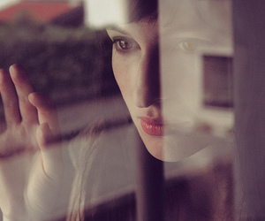 girl, window, and eyes image