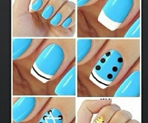 nails, blue, and sencillo image