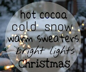 christmas, happy, and hot cocoa image