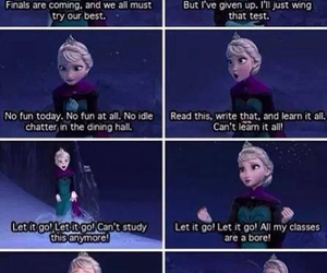 frozen, finals, and funny image