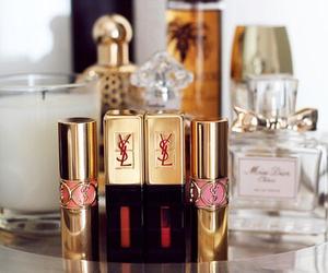 YSL, lipstick, and perfume image