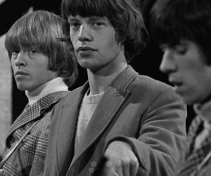 Brian Jones, Keith Richards, and mick jagger image