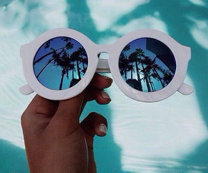 blue, glasses, and sky image
