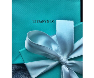 blue, ribbon, and tiffany gift image