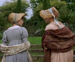 Felicity Jones, garden, and jane austen image