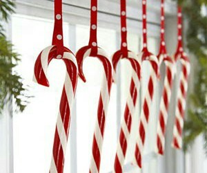 christmas, peppermint, and tree image
