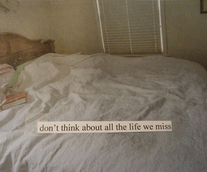 bed, life, and quote image