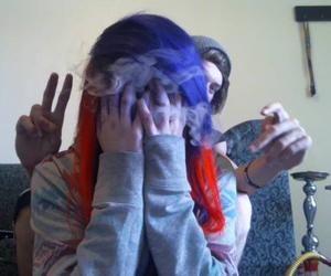 facebook, orange hair, and hookah image