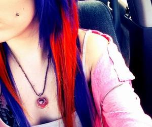 facebook, orange hair, and purple hair image