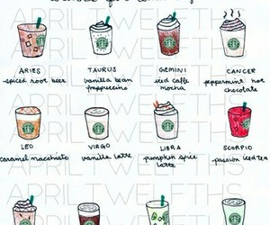 starbucks, zodiac, and drink image