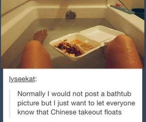bathtub, chinese, and food image