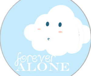 alone, blue, and cloud image