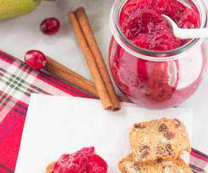 cranberry, pear, and chutney image