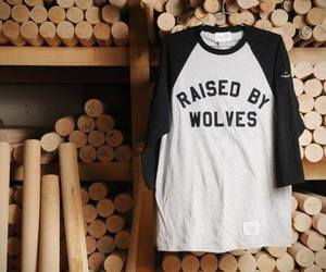 wolf, shirt, and fashion image