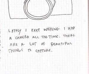 camera and text image