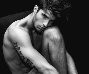 black & white, model, and gorgeous image