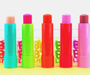colors, lip balm, and babylips image