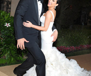 kim kardashian, beautiful, and wedding image