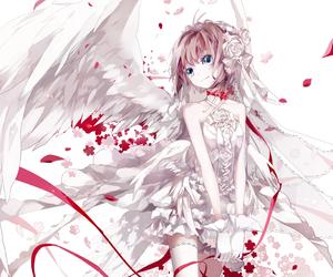 anime, anime girl, and angel image