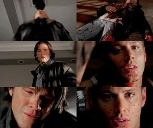 cry, dean winchester, and demon image