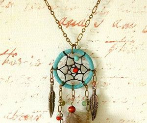 dream catcher, dreamcatcher, and necklace image