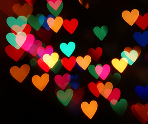 colours, light, and heart image