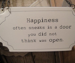 happiness, quote, and door image