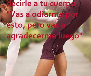 Chica, frase, and gym image