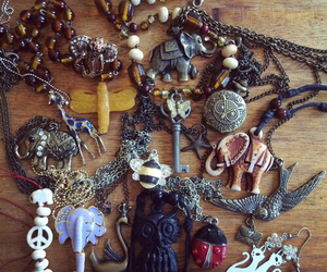 bohemian, indie, and jewelry image
