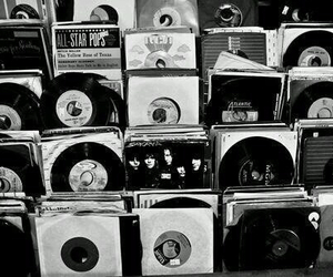 music, grunge, and black and white image