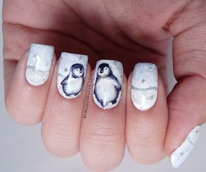 nails, penguins, and cute image